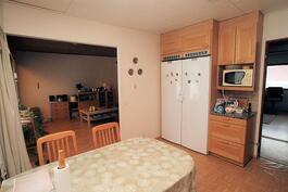 Keittiöstä olohuoneeseen ja eteiseen