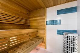 Sauna on uusi ja käyttämätön