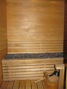 Sauna ja kylpyhuone remontoitu hyvään kuntoon