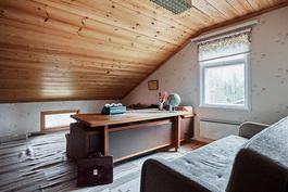 Perinteinen kotikonttori on muutettavissa makuukammariksikin