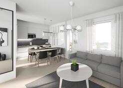Esimerkkikuva 60,5 m2:n asunnosta.