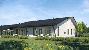 Visualisoitu kuva talo D-takapiha