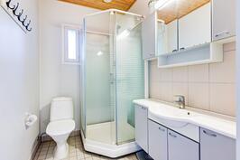 Yläkerran wc ja suihkutila