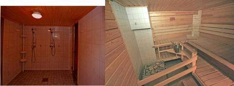 Yhtiön sauna ja pesutilat, hyvin jäljellä saunavuoroja