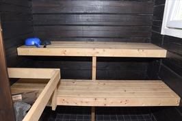 Mökki 1:n sauna.