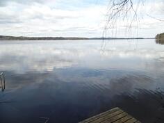 Näkymää rannasta järvelle