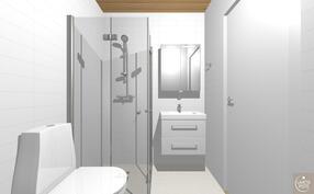 Havainnekuva yläkerran wc:stä.