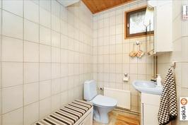 Saunaosaston wc / Bastuavdelningens wc
