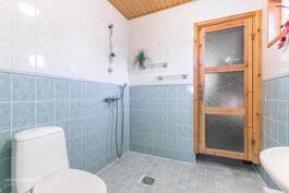 Tilava kylpyhuone / wc