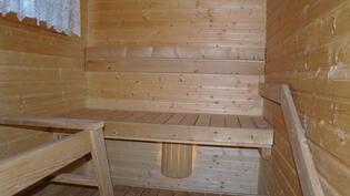 Päärakennuksen saunasta.