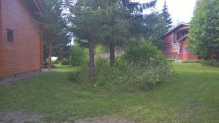 Kiinteistöllä on myös 1986 rakennettu talo