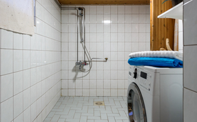 Pesuhuone on tilava