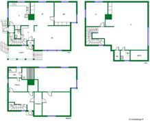 Tilaa löytyy! Varsinaisia asuinneliöitä on 160 ja tämän lisäksi on 100 neliötä harrastekäyttöön soveltuvaa tilaa