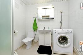 Kylpyhuone ja suihkukaappi