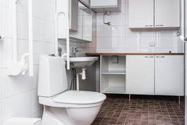 Kylpyhuoneessa saniteettikalusteet