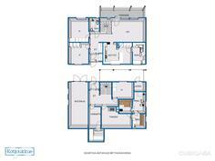Kuvasta poiketen kodinhoitohuone on ruokailutila, joka on avoin keittiöön.