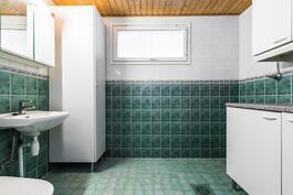 Erillinen wc/kodinhoitohuone.