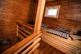 Kaunis sauna, täällä rentoudutaan mahtavissa löylyissä!