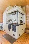 puuhella keittiössä / vedspis i köket