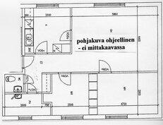 A 2 ja A 4 huoneiston pohjakuva (ohjeellinen)