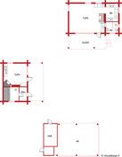 Pohjakuva; Päärakennus, saunarakennus ja autokatos+varastorakennus