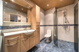 Kaunis v. 2011 remontoitu kylpyhuone.