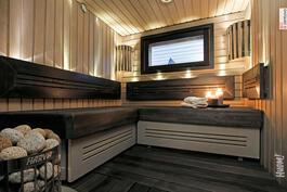 Tunnelmallinen sauna remontoitu v. 2015.