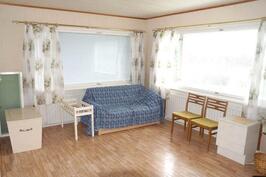 Makuuhuone (vanha olohuone) alkuperäisessä osassa.