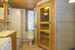 Kylpyhuone, sauna.