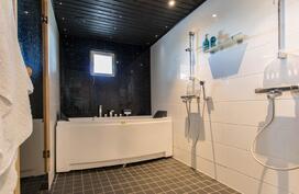 Talon kylpyhuone poreammeella