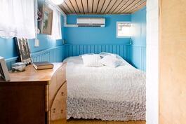Makuuhuone, kellaritilassa.