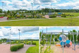 Vieressä sijaitseva kaupungin iso leikkipuisto