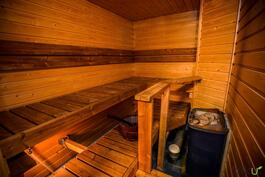 Sauna on tilava
