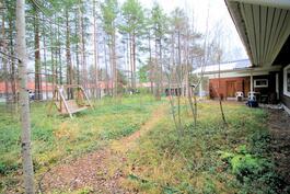Viherpeukalon/pihasuunnittelijan unelma, luonnonvarainen piha-alue.