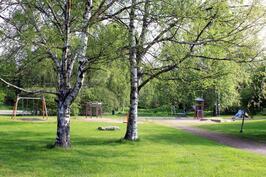 aivan lähellä leikkipuisto
