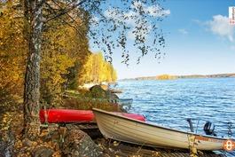 taloyhtiöllä venepaikka ja laituri Pyhäjärven rann