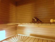 sauna yläkerrassa
