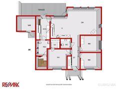 Asunnon pohjakuva 3D, toinen asunto peilikuvana