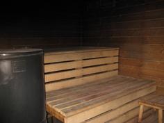 sauna; Aito-kiuas, suihku samassa tilassa