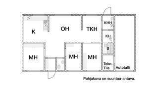 Asuinrakennuksen pohjakuva