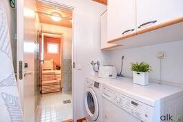 Täällä on tilaa pyykkihuollolle.