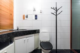 Makuuhuoneen yhteydessä wc-tila.
