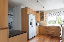 Keittiössä on laadukkaat materiaalit