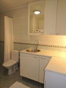 Pesuhuoneessa kodinhoitotilaa