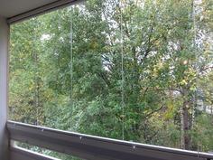 Metsäiset näkymät parvekkeelta
