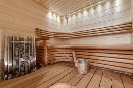 uusittu kaunis sauna
