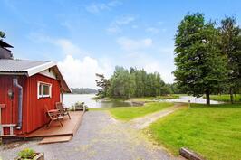 Oma sauna ja hiekkaranta - Egen bastu och sandstrand