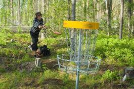 Frisbee-golfia.