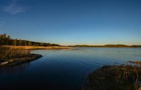 Ranta ilta-auringolla / Stranden vid solnedgång