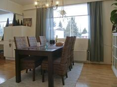 keittiön viereinen huone kalustettu ruokailuhuoneeksi